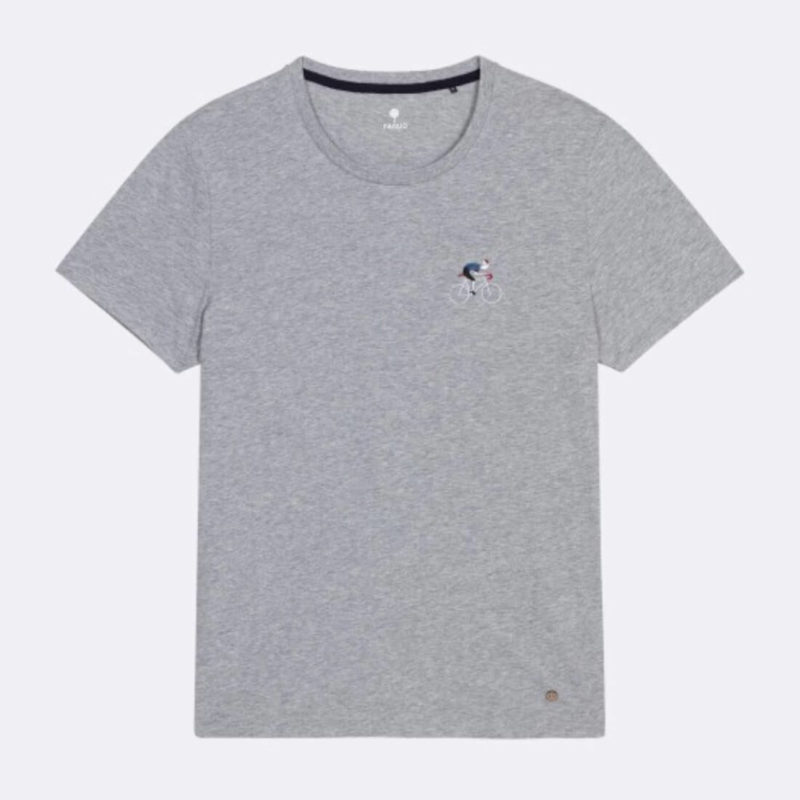 FAGUO ARCY GREY BICYCLE TEE WHITE BACKGROUND