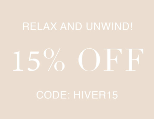 Relax and Unwind 15% off coupon code