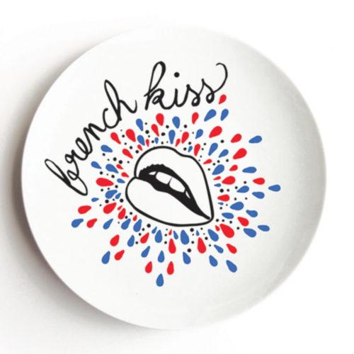 Pied de Poule French Kiss Porcelain Dish