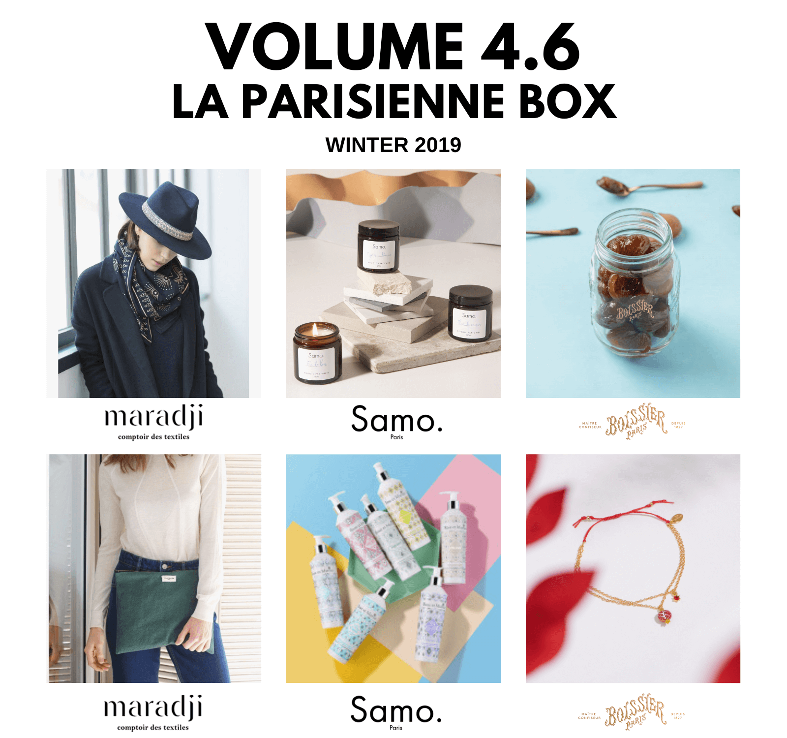 V4.6 Box: hat, candle, bracelet, clutch