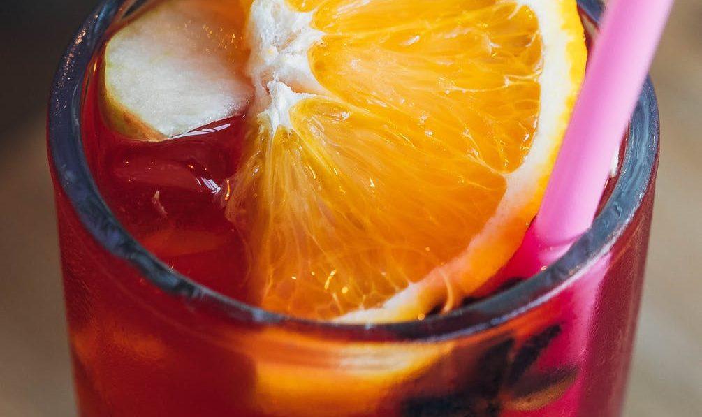 Blood Orange Cocktail with Orange Slice