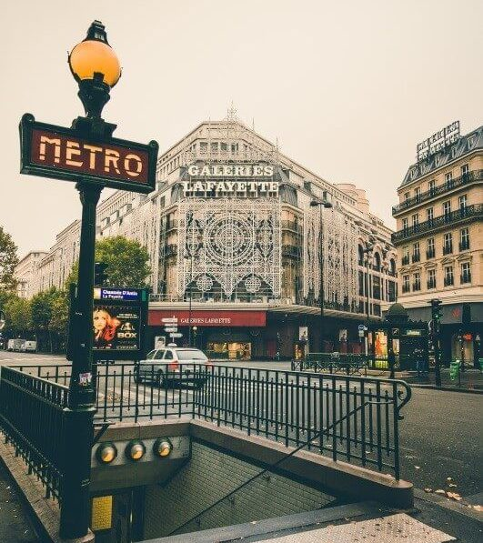 Paris Metro Light Pole