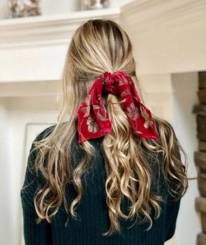 flame scarlet hair scarf