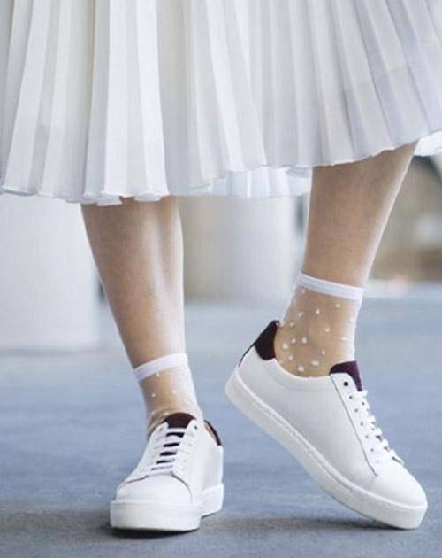 Atelier St Eustache White Socks