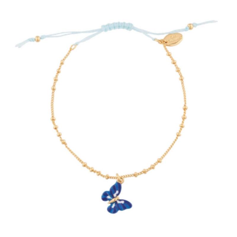 Les Nereides Butterfly bracelet blue