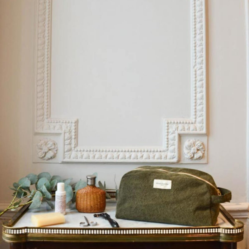 rive droite women's toiletry bag military green