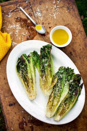 Grilled Romain lettuc