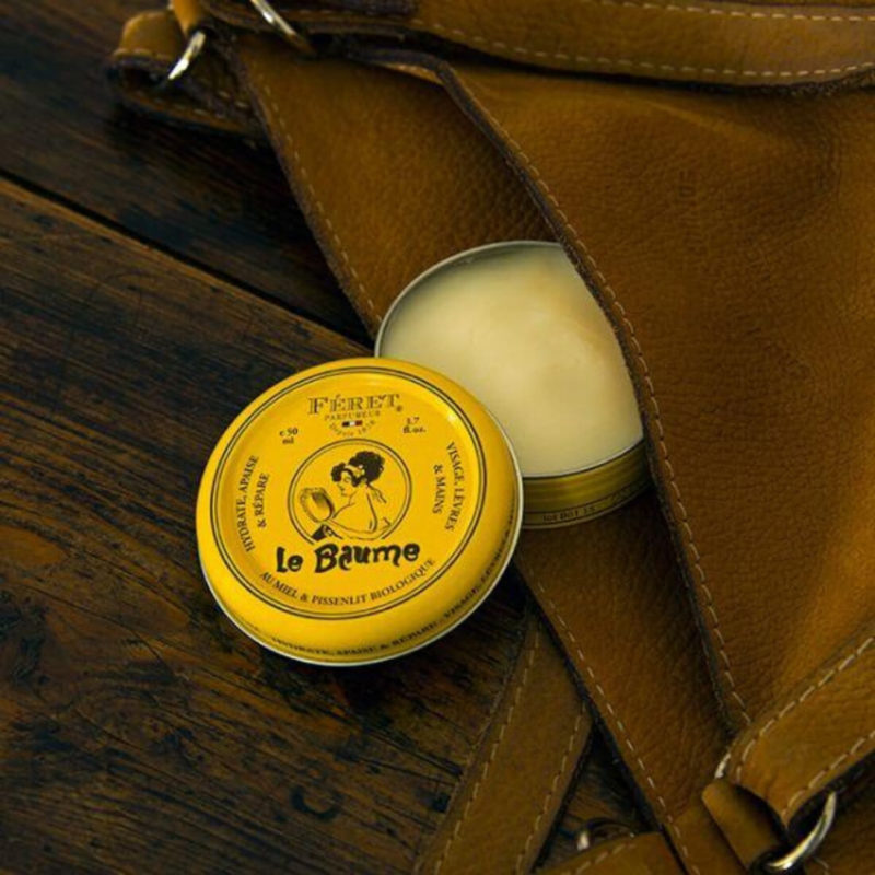 Feret Parfumeur Lip Balm, Yellow Tin Can