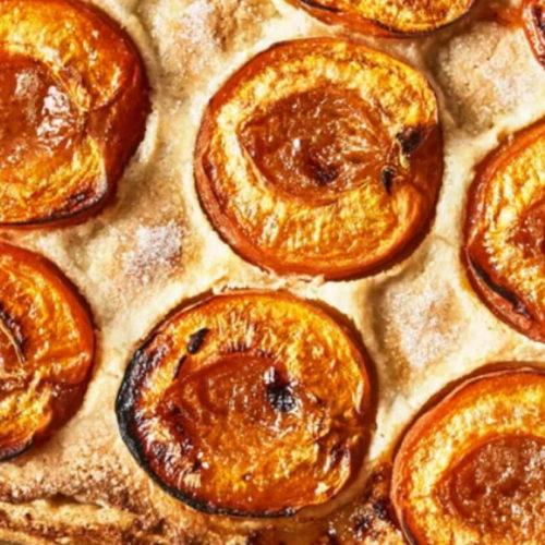 apricot & almond cream galette fruit dessert