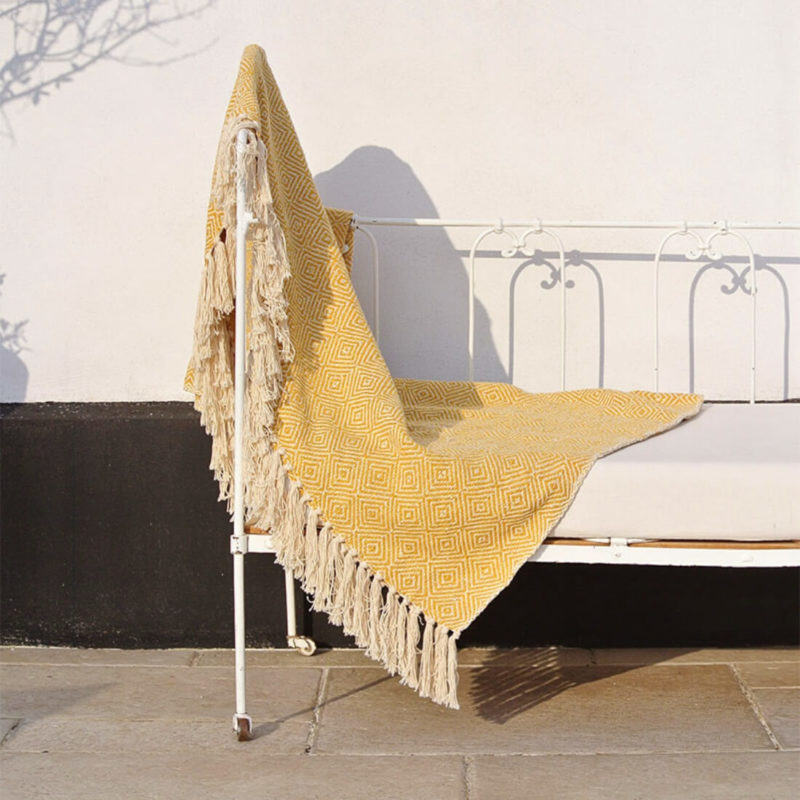 Maradji Throw Blanket Mustard