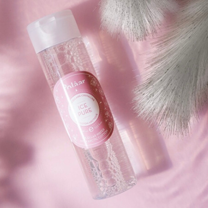 Polaar Micellar Water, pink background