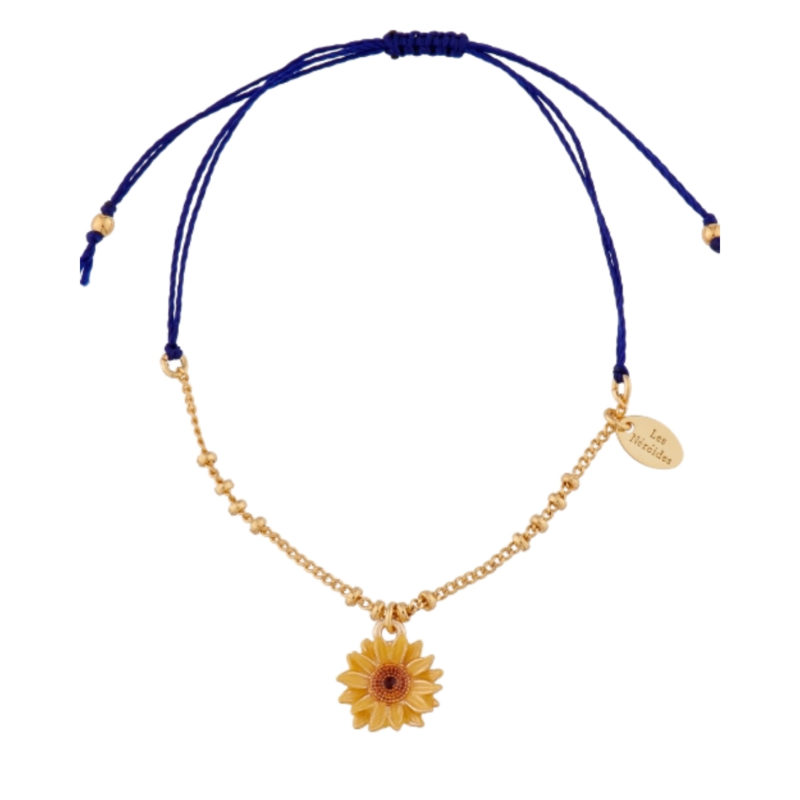 LES NEREIDES SUNFLOWER BRACELET, WHITE BACKGROUND