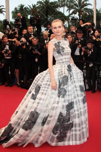 Diane Kruger in printed dress