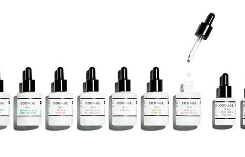 codage paris, row of face serums
