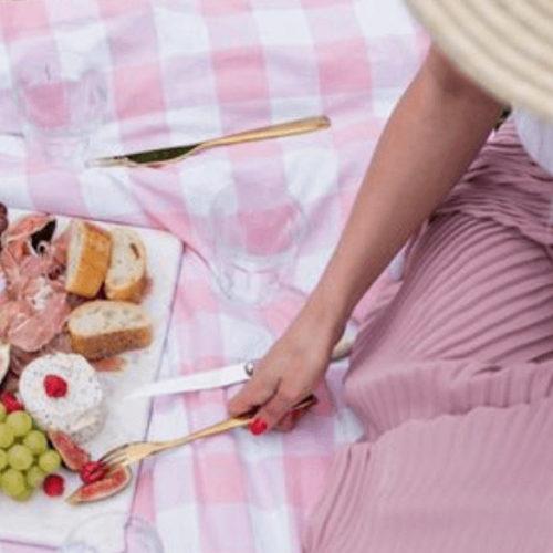 woman at outdoor picnic