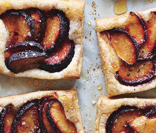 French tart with plum & honey