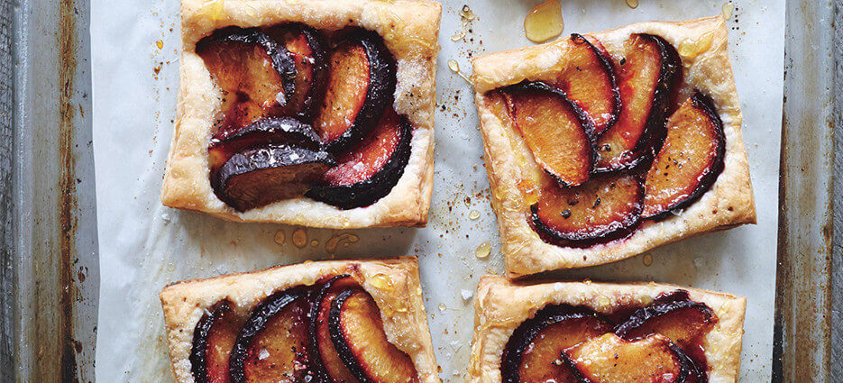 French tart with plum & honey