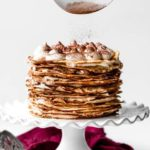 Crêpe Cake on cake stand