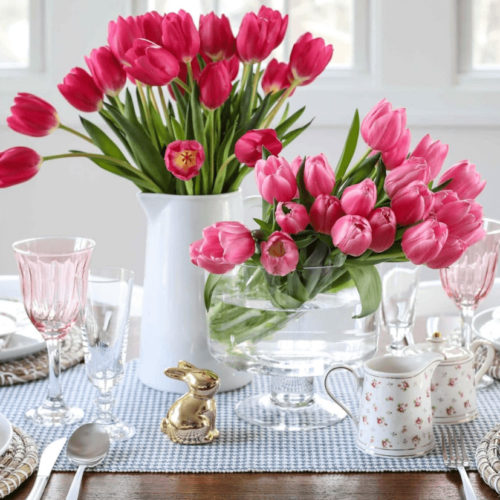 flower table decor for Easter