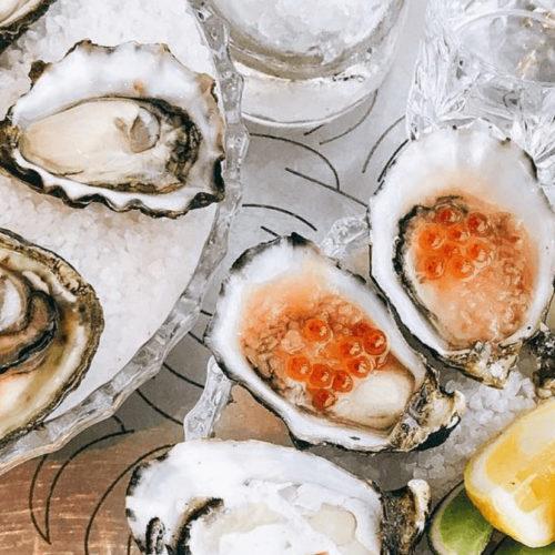 oyster flatlay